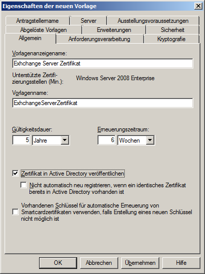 Exchange 2010: Zertifikat und interne Zertifizierungsstelle (CA)