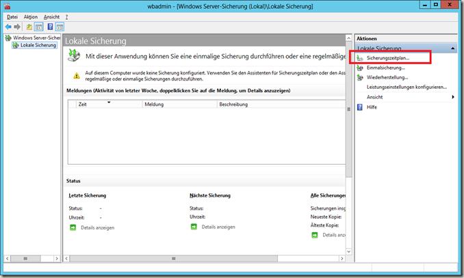 Windows Server Sicherung
