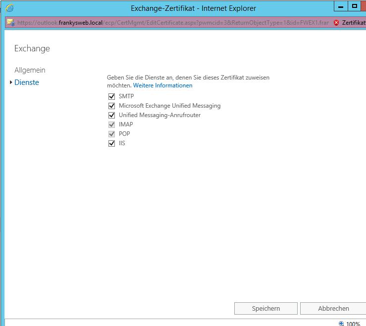 Exchange 2013: Fehlermeldung beim Zuweisen von Zertifikaten an UM ...