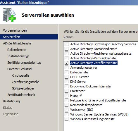 Server 2008/2012: PKI installieren (Teil 1) - Frankys Web