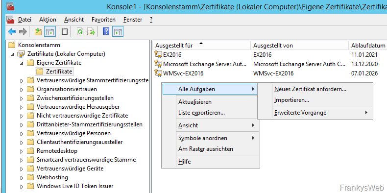 Migration von Exchange 2013 zu Exchange 2016 (Teil 1)