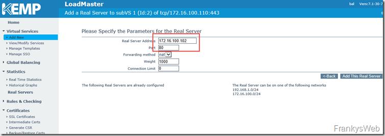 Kemp Exchange Server
