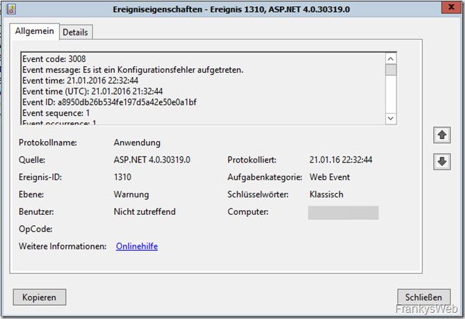 ASP.NET Event 1310