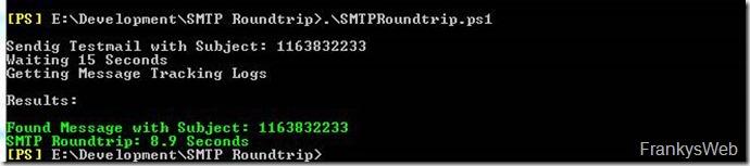 SMTP Roundtrip