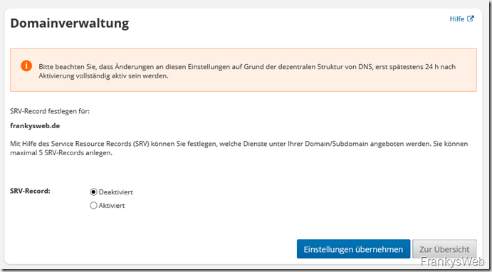 Domainverwaltung