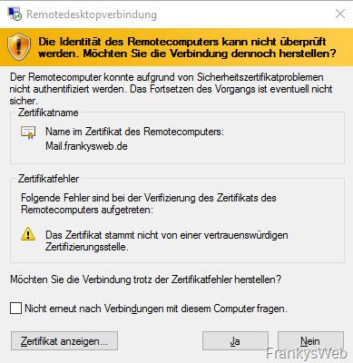 Tipp: Zertifikat für RDP austauschen - Frankys Web