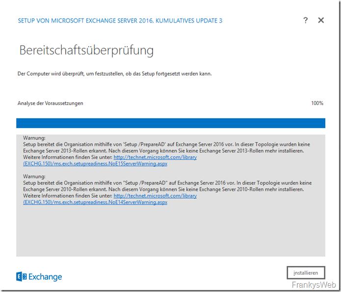 HowTo: Installation Exchange 2016 auf Windows Server 2016