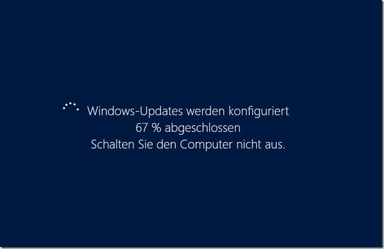 Windows Update 67 Prozent