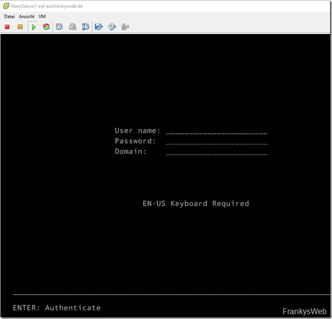 Nano Server auf ESXi