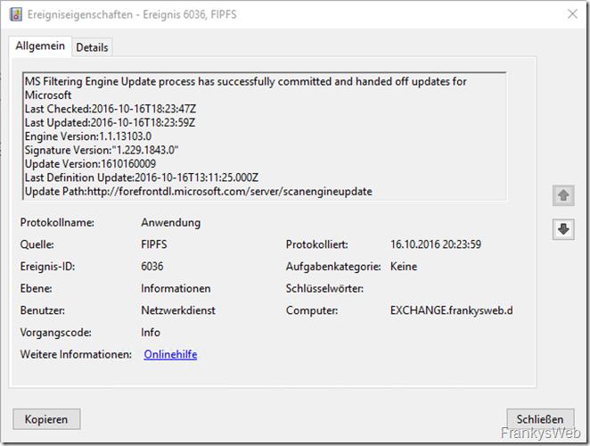 FIPFS Update erfolgreich