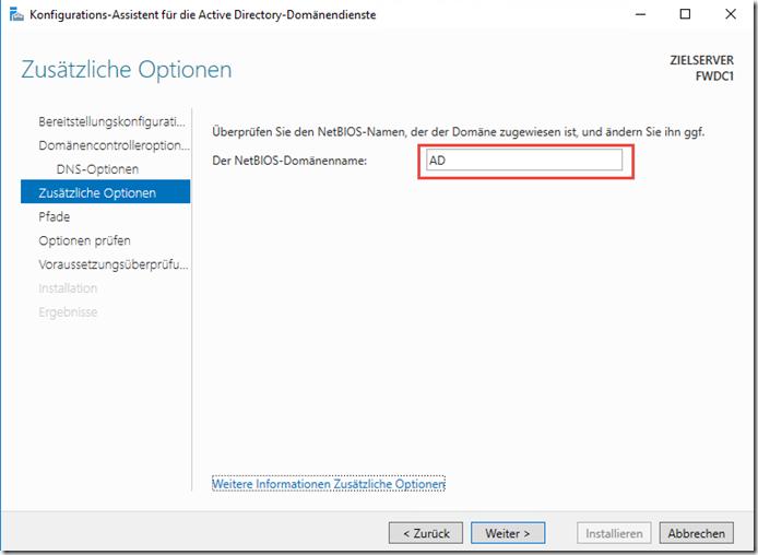 Active Directory NetBIOS