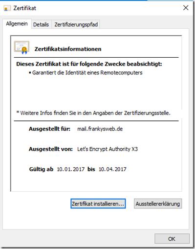 Zertifikate von Let's Encrypt