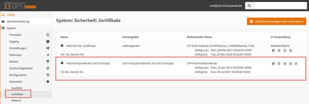 Exchange 2016: OPNsense, HAProxy und Let\'s Encrypt - Frankys Web