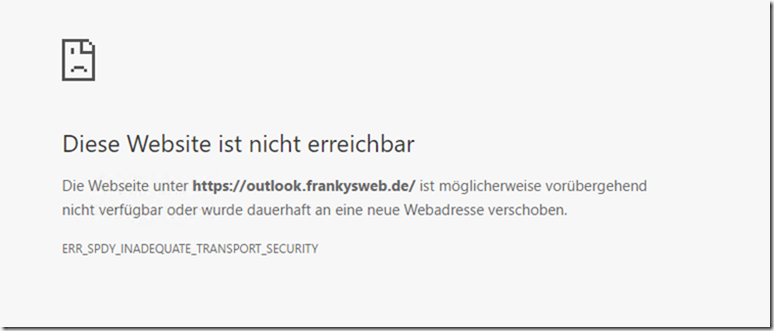 Chrome SPDY Fehler