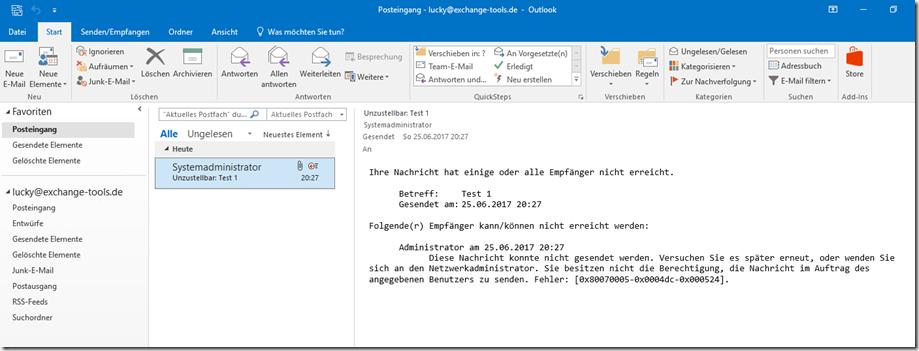 Outlook NDR