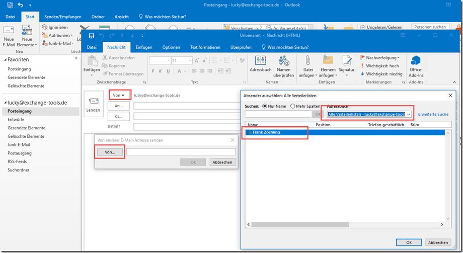 Outlook E-Mail senden