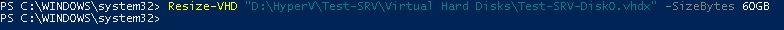 Resize-VHD | Virtuelle Festplatte vergößern | Hyper-V