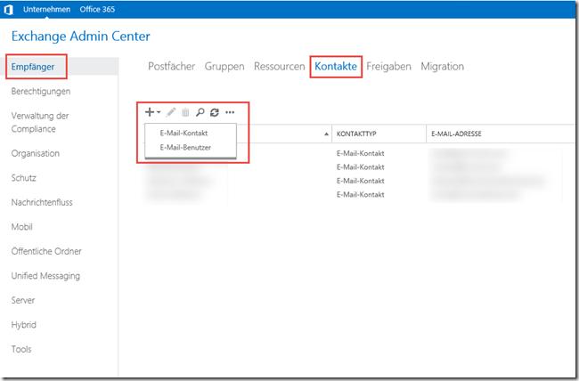 Vorhandene Kontakte oder Verteiler aktivieren (Email aktivieren)
