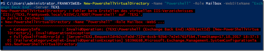 PowerShell Backend