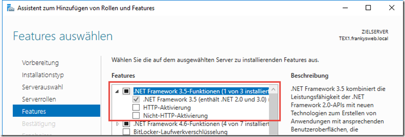 Windows NET Feature