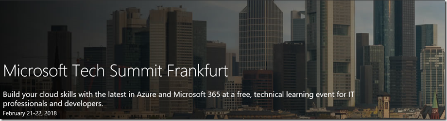 Microsoft Tech Summit Frankfurt