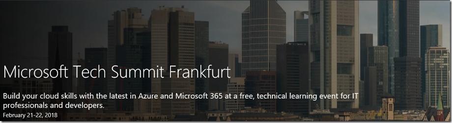 Microsoft Tech Summit Frankfurt