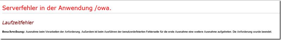 Exchange 2016: Serverfehler in der Anwendung /owa - Frankys Web