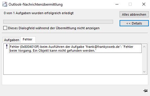 offlineadressbuch nicht