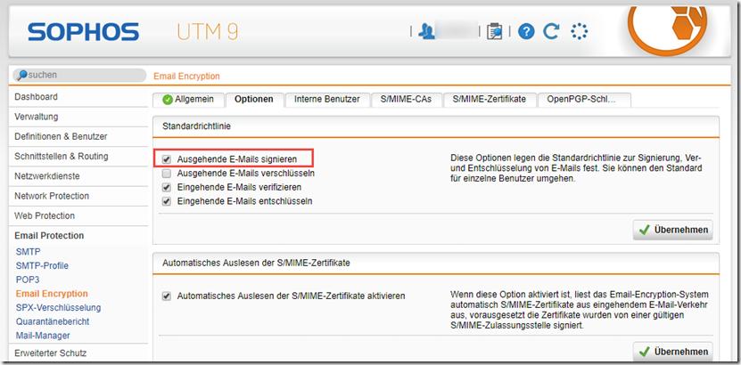 Signierung von Mails mittels S/MIME problematisch