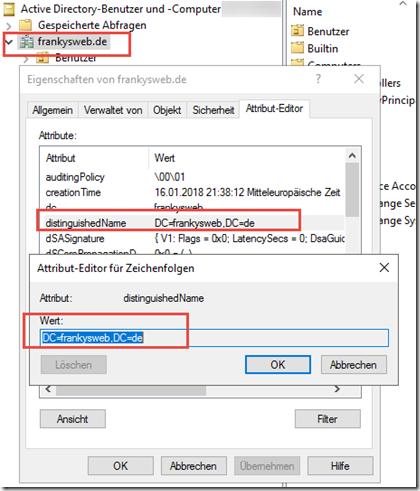 Empfänger Authentifizierung mittels Active Directory