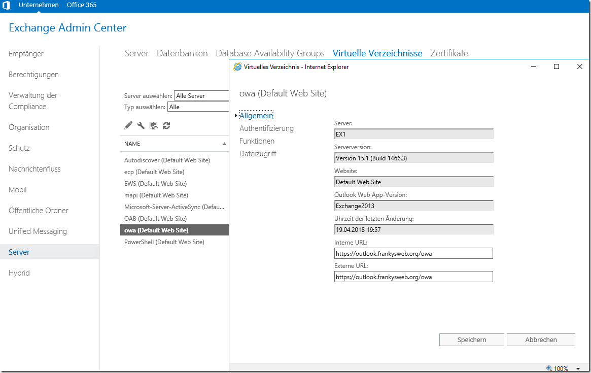 Exchange 2016: Hybrid Modus mit Office 365 (Teil 1)