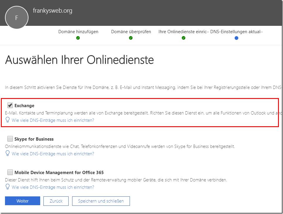 Exchange 2016: Hybrid Modus mit Office 365 (Teil 2)