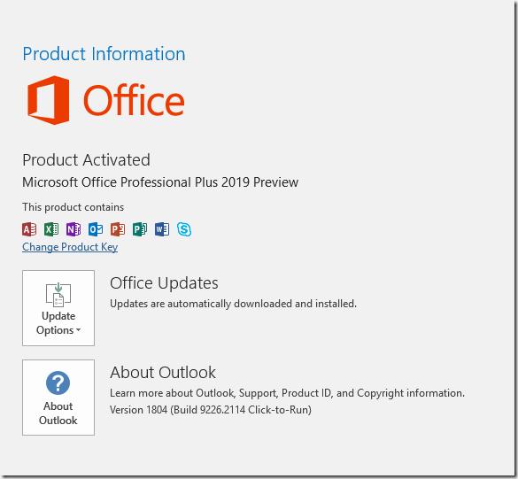 Preview von Office 2019 veröffentlich (inkl.Outlook 2019)