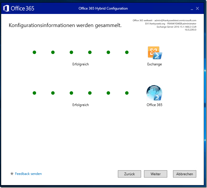 Exchange 2016: Hybrid Modus mit Office 365 (Teil 4)