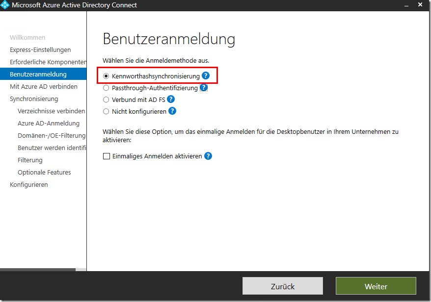 Azure AD Connect / Hybrid / Office 365