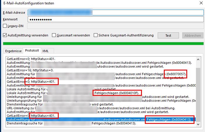 Exchange Migration: Probleme mit Autodiscover (HTTP 400) und