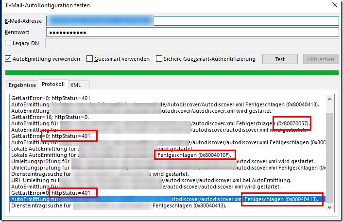 Exchange Migration: Probleme mit Autodiscover (HTTP 400) und Kerberos