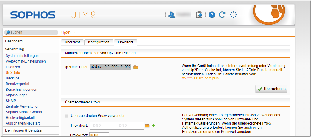 Neues Update für Sophos UTM (9.510-5)