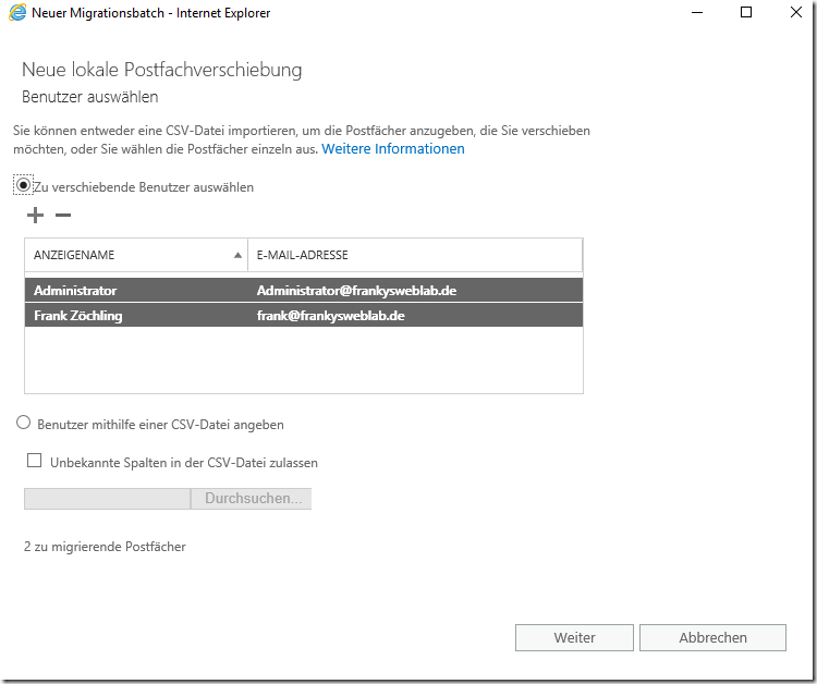 Exchange 2019: Testmigration von Exchange 2016 zur Technical Preview