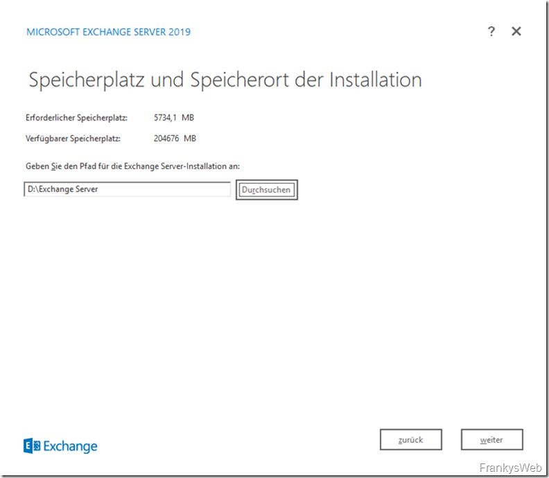 HowTo: Installation von Exchange 2019 auf Server 2019