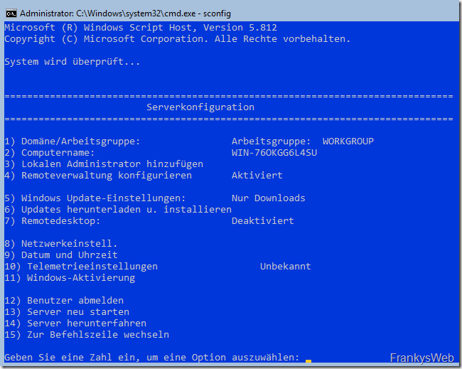 HowTo: Installation von Exchange 2019 auf Server 2019 Core