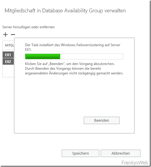 Exchange 2019: Database Availability Group (DAG)