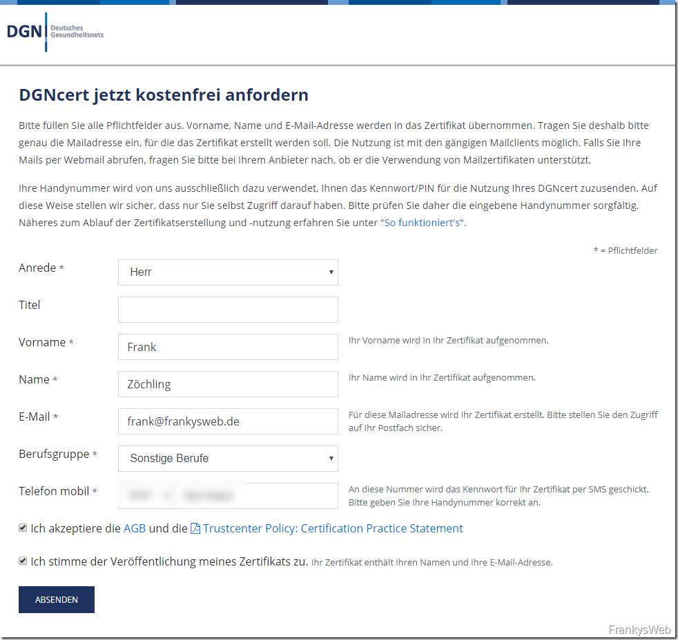 Tipp: Kostenloses S/MIME Zertifikat