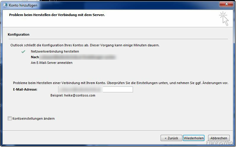 Outlook auf Windows 7 und Exchange Server 2019