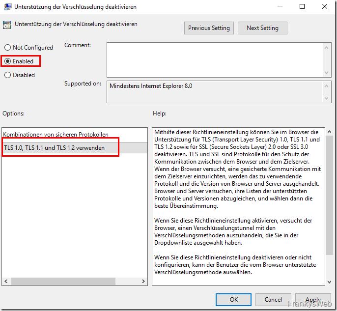 Outlook auf Windows 7 und Exchange Server 2019