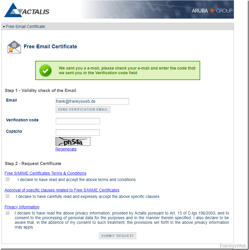 Tipp: Kostenloses S/MIME Zertifikat (Neu!)