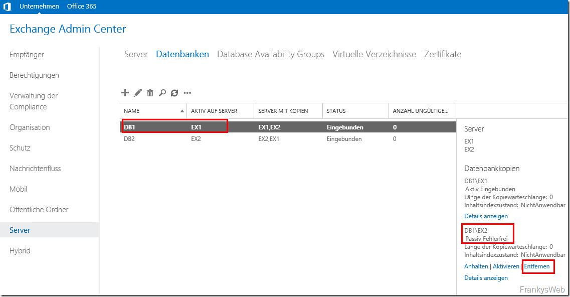 Exchange DAG: Datenbank und Logfile Pfad ändern