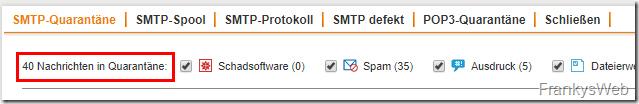 Sophos UTM: Monitoring der Mail Queues