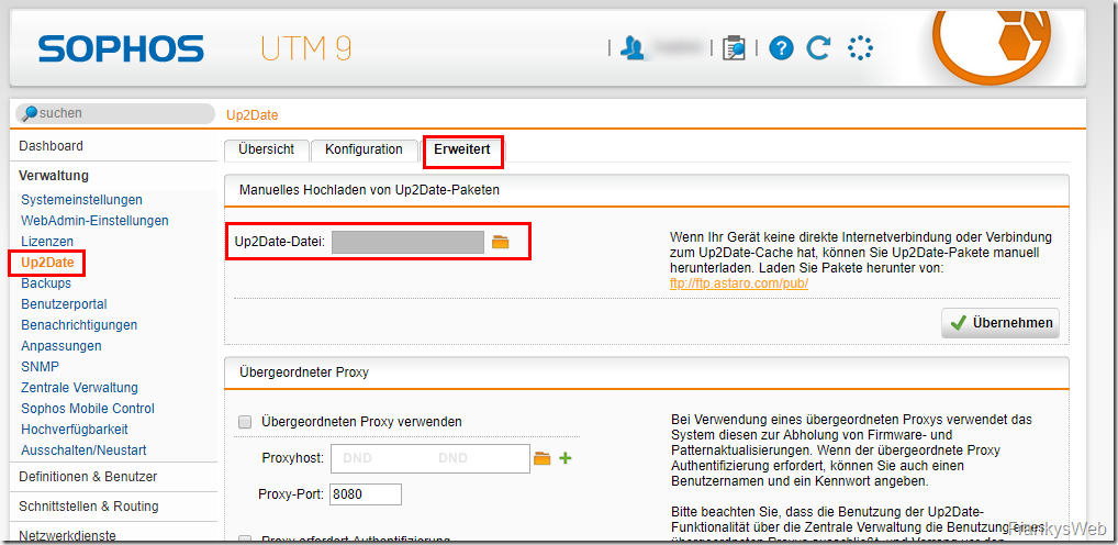 Sophos UTM: Neues Updates (UTM 9.601-5)