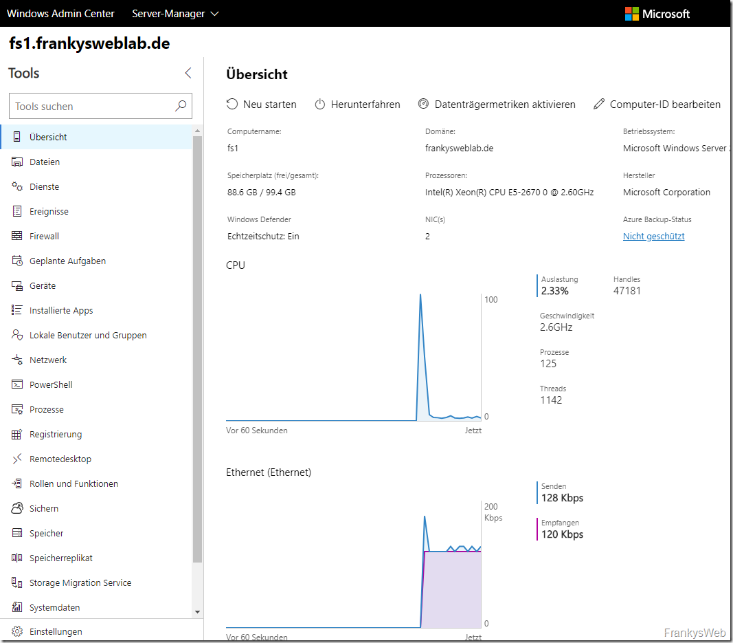 Windows Admin Center und Sophos UTM 9.6 WAF (WebSocket)